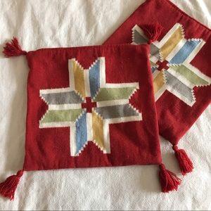 Boho Wool Cushion Covers (set of 2)